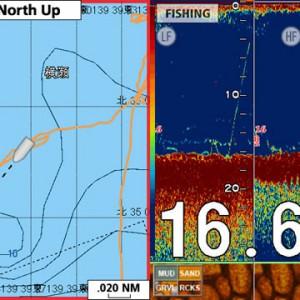 メバルを追う vol.3 GPS魚探イメージ