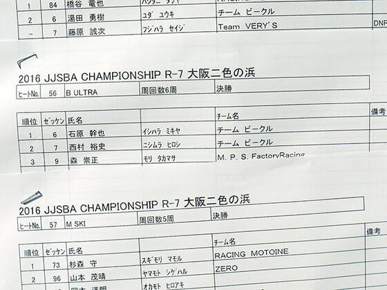 JJSBA 2016 R7 B ULTRA リザルト