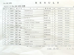 JJSF 2017 R-3 Pro SKI OPEN リザルト