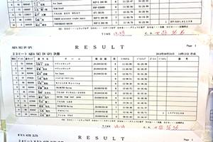 aquabike 2018 R-3 SKI DV GP1 リザルト
