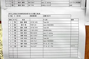 JJSBA 2018 R-6 B SKI リザルト(HEAT1)