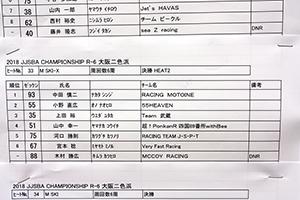 JJSBA 2018 R-6 M SKI-X リザルト(HEAT2)