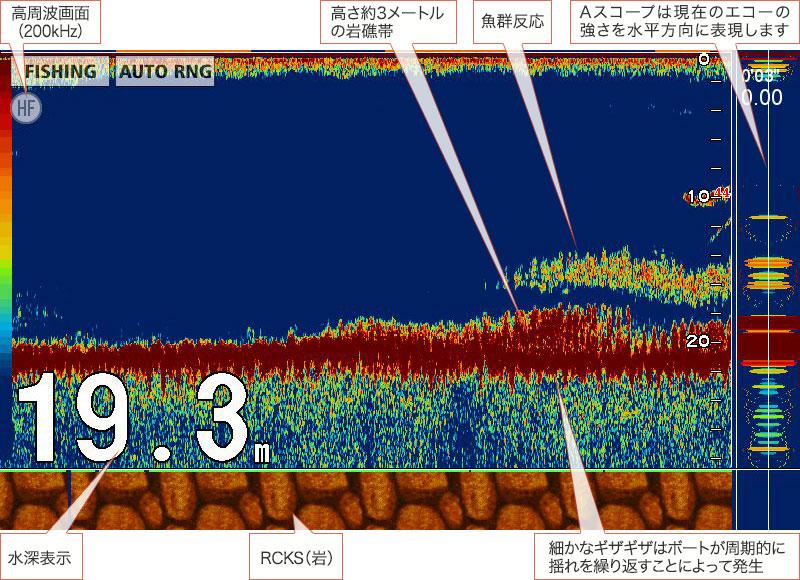 フルノスタイル「アオリイカを追うVol.6」魚探画像