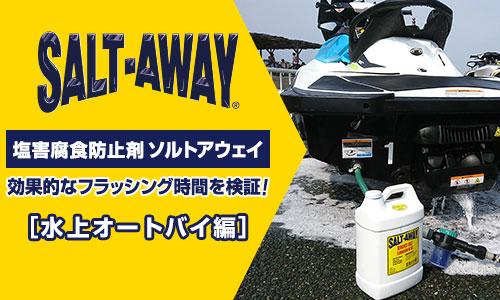塩害防止剤 ソルトアウェイの効果的なフラッシング時間を検証
