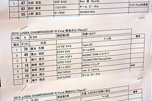 JJSBA 2019 FINAL(R-2) B SKI リザルト(HEAT1)