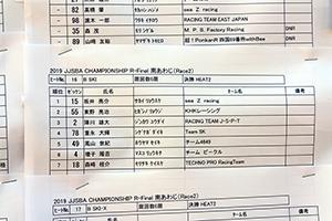 JJSBA 2019 FINAL(R-2) B SKI リザルト(HEAT2)